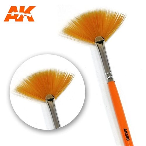 AK580 FAN SHAPE WEATHERING BRUSH