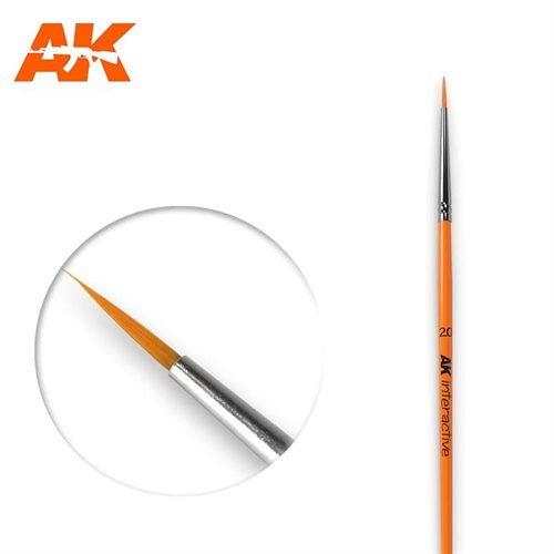 AK602 2/0 ROUND BRUSH. SYNTHETIC