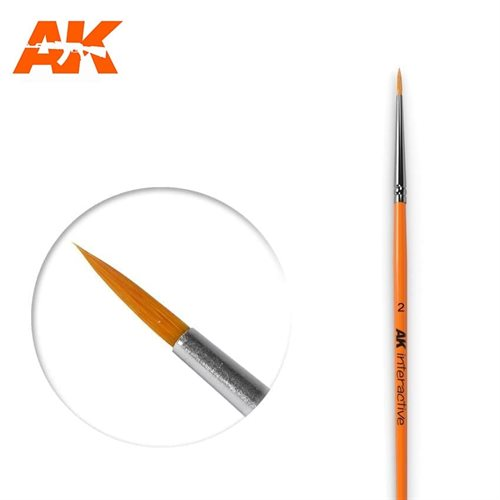 AK604 2 ROUND BRUSH. SYNTHETIC