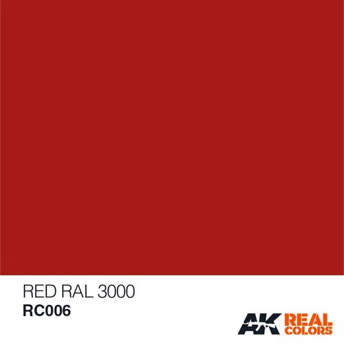 AKRC006 RED, RAL 3000, 10ML